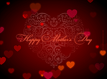 Red Mothers Day Background 1
