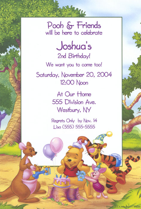 Winnie The Pooh And Friends Birthday Invitations 1