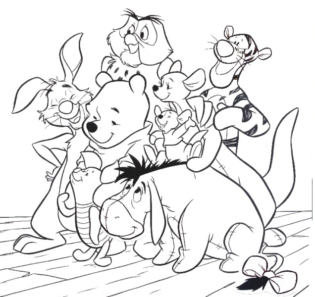 Winnie The Pooh And Friends Coloring 3