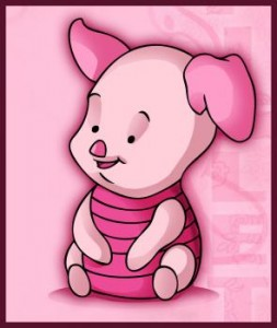 Winnie The Pooh Characters Baby Piglet 5 253×300