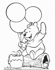 Winnie The Pooh Coloring Birthday 4 234×300