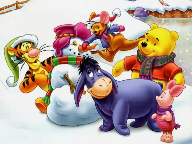 Winnie The Pooh Winter Wallpaper 2