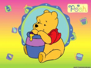 Winnie The Pooh With Honey Wallpapers 1 300×225