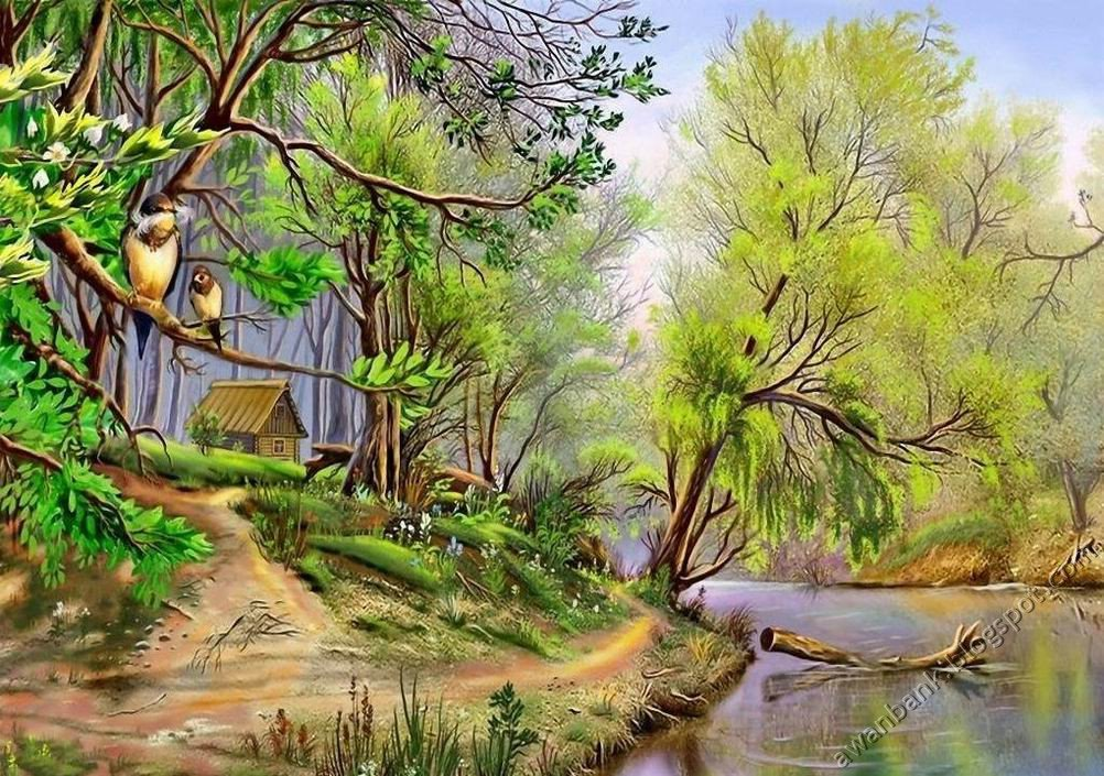 Nature Paintings Images Amazing Nature Paintings