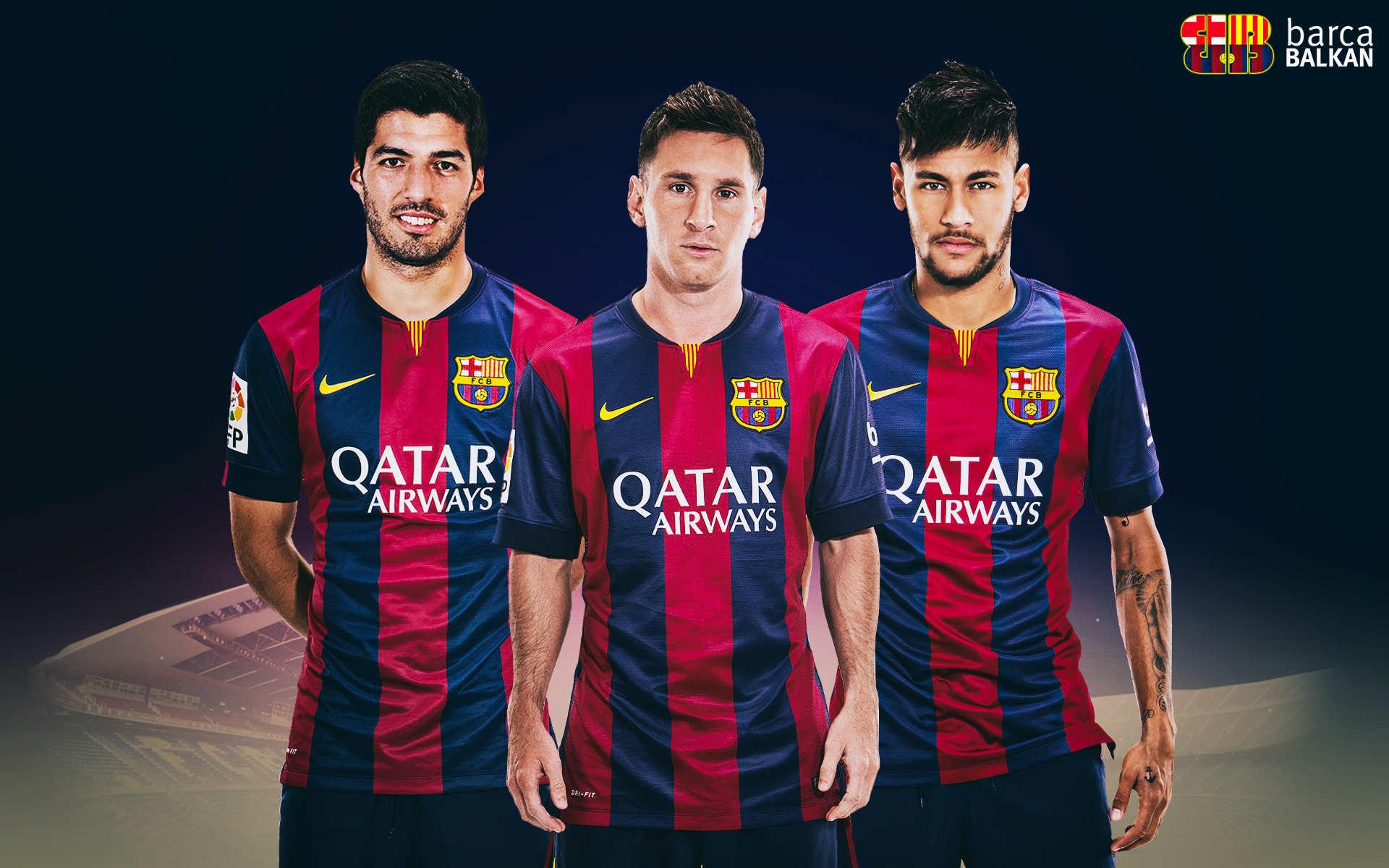 Messi And Neymar And Suarez Wallpaper 9