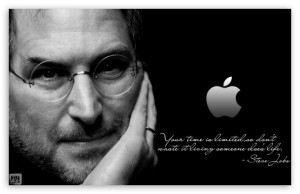 Steve Jobs Black Wallpaper 3 300×194