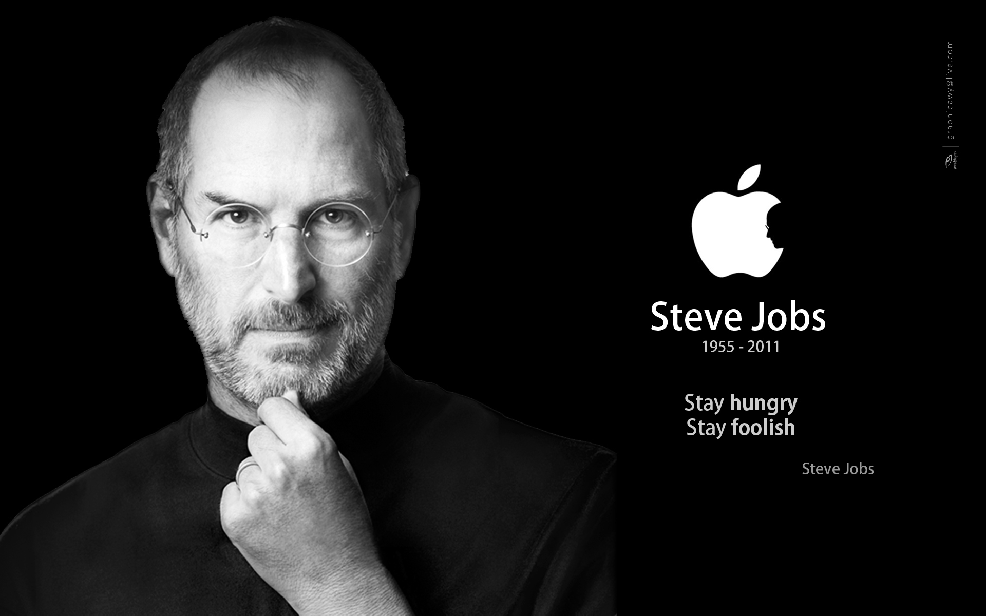 Steve Jobs Black Wallpaper 5
