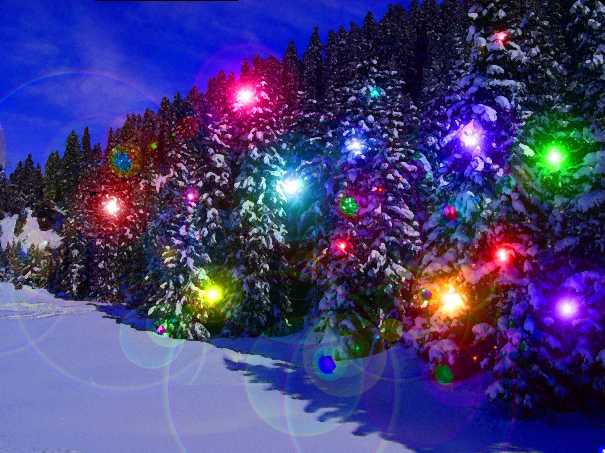 Animated Holiday Lights Wallpaper 1