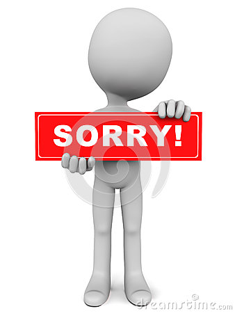 Apology Clip Art 1