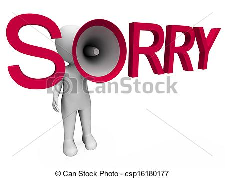 Apology Clip Art 7