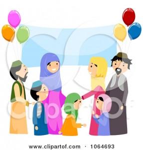 Eid Family Clipart 1 287×300
