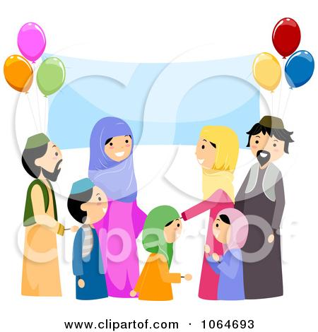 Eid Family Clipart 1