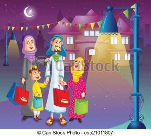 Eid Family Clipart 3 300×270