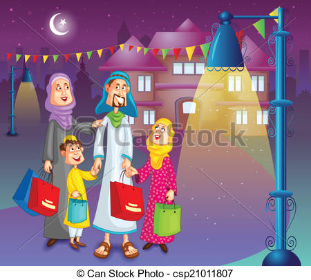 Eid Family Clipart 3