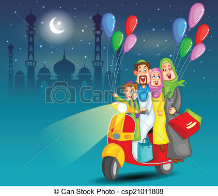 Eid Family Clipart 4