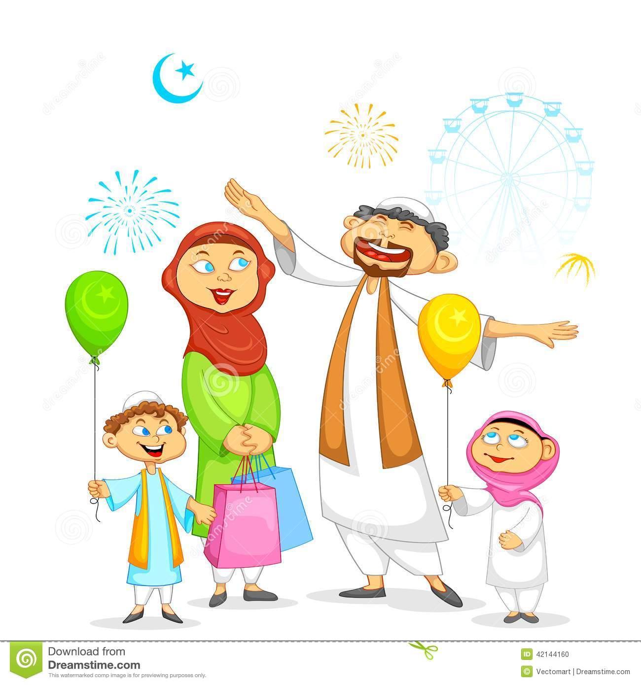 Eid Family Clipart 5