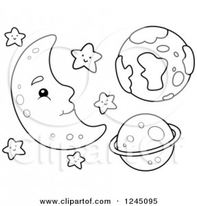 Eid Moon Clipart Black And White 1 287×300