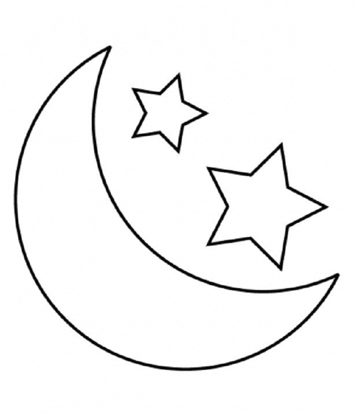 Eid Moon Clipart Black And White 6