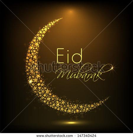 Eid Moon Vector 2