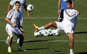 Gareth Bale And Cristiano Ronaldo Training 4 300×187