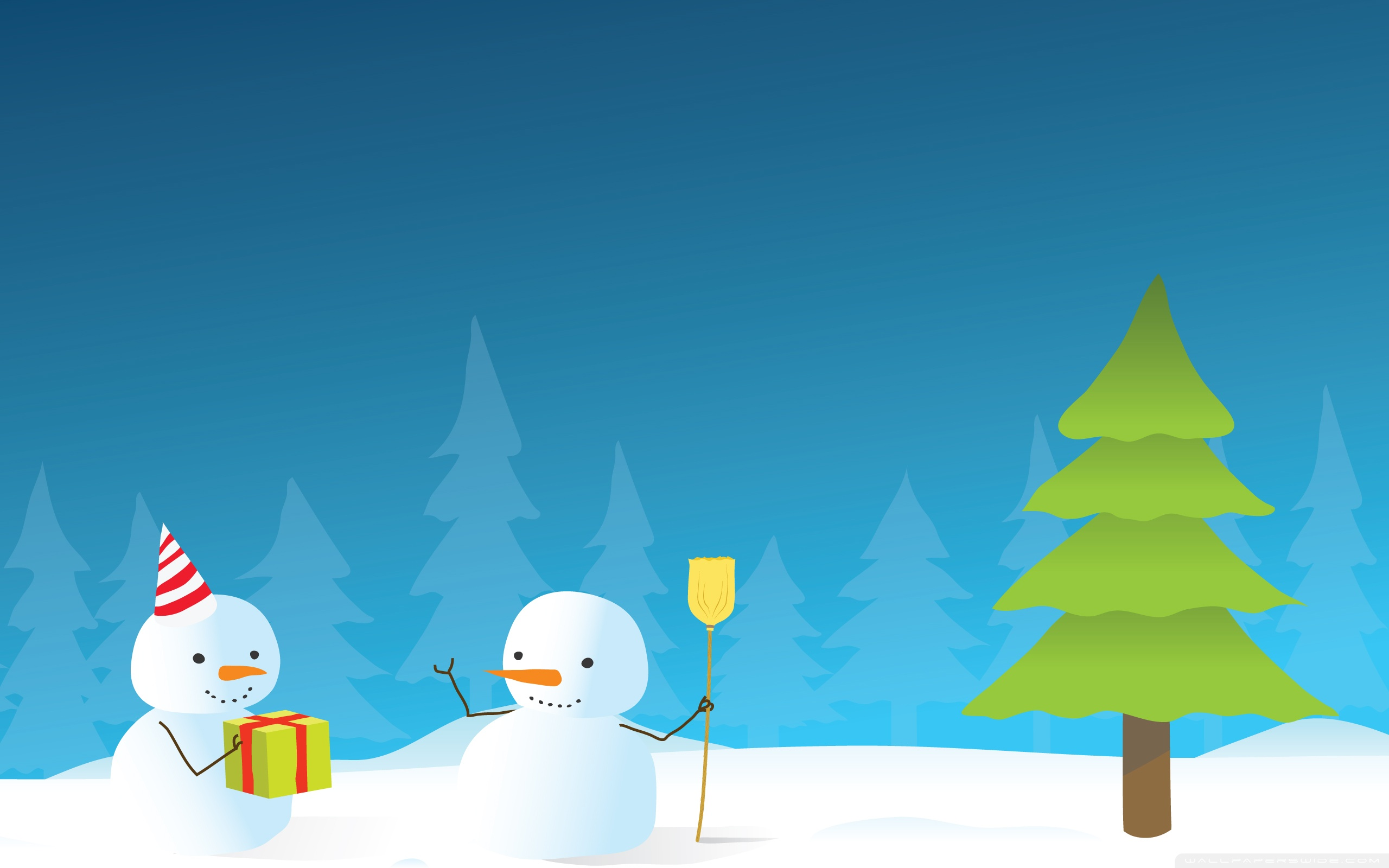 Winter Holiday Wallpaper 1