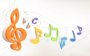 3d Colorful Music Notes Wallpaper 3 300×188