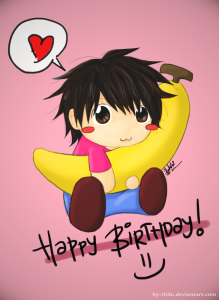 Anime Happy Birthday Chibi 3 219×300