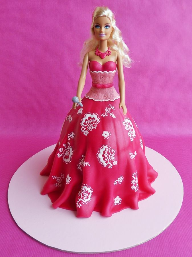 Barbie Birthday Cake For Girls 2