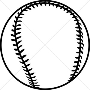 Baseball Clipart Black And White 2 300×300