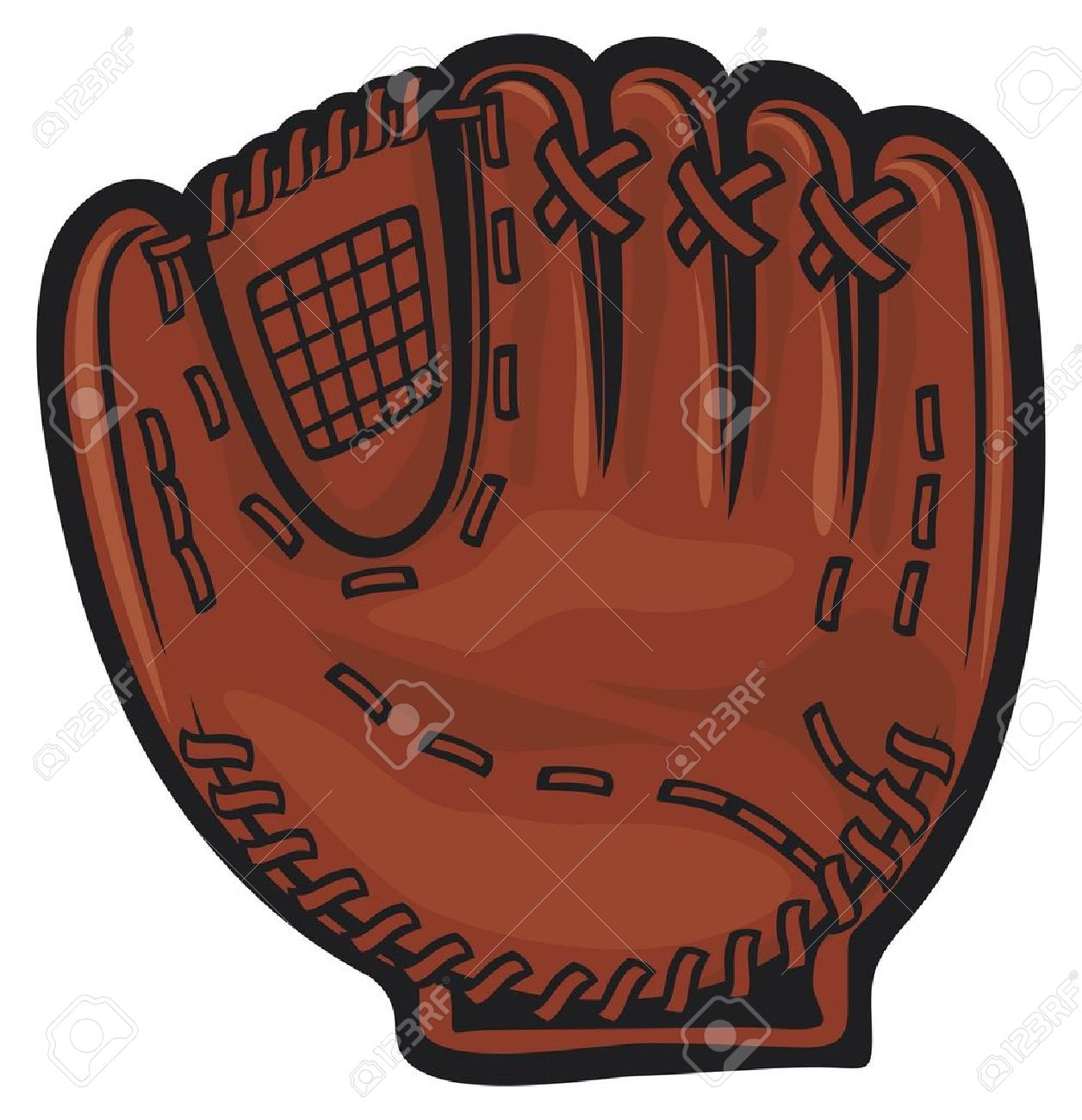Baseball Glove Clipart 3