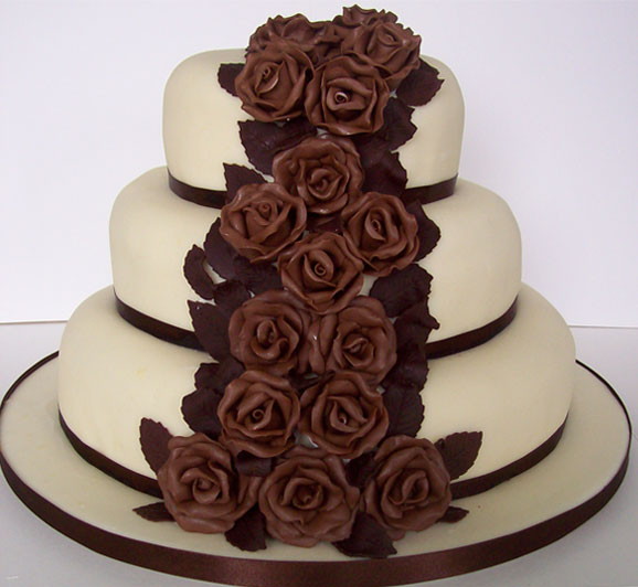 Beautiful Chocolate Wedding Cakes 2