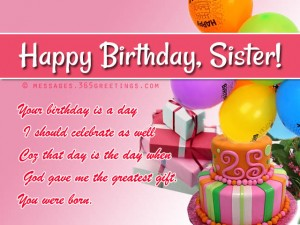 Best Happy Birthday Wishes For Sister 13 300×225