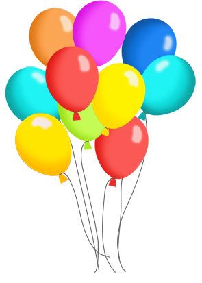 Birthday Balloons And Cake Clip Art 1