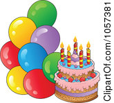 Birthday Balloons And Cake Clip Art 5