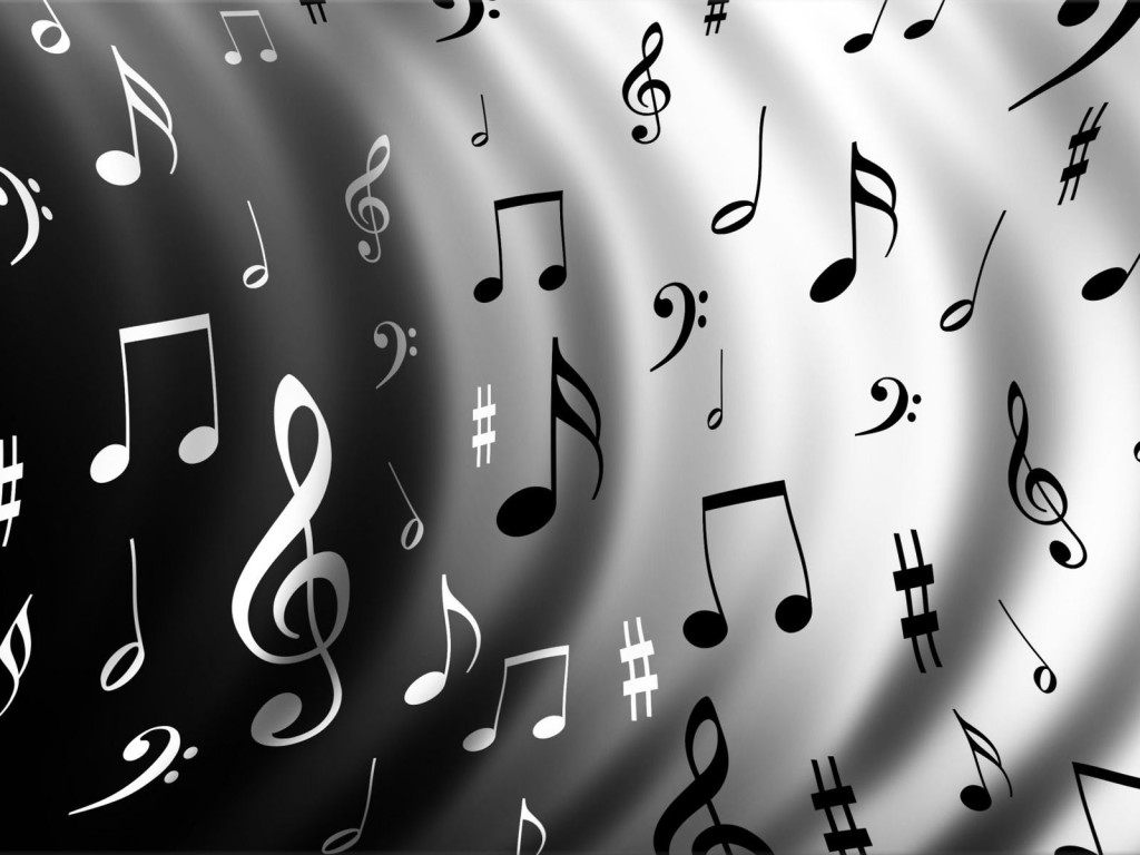 Black And White Music Notes Background Black And White Music Notes