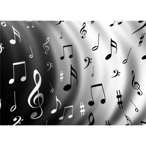 Black And White Music Notes Wallpaper 4 300×300