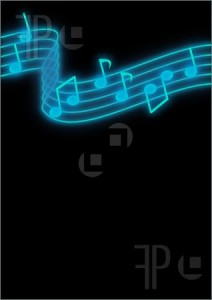 Blue And Black Music Notes Background 3 212×300