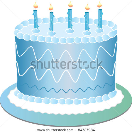 Blue Birthday Cake Clip Art 2