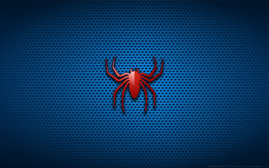 Blue Spiderman Logo Wallpaper 3