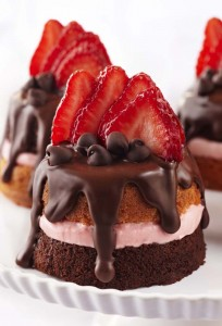 Chocolate Cake With Strawberries 2 204×300