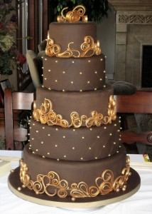 Chocolate Wedding Cakes 1 214×300
