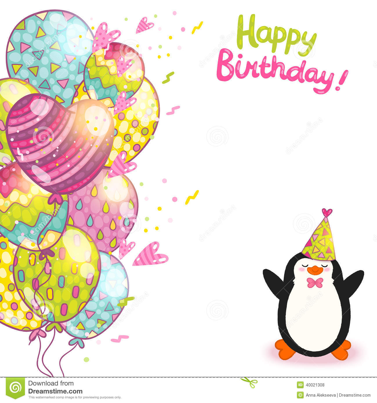 cute birthday card templates – Happy Birthday Card Template Free Download