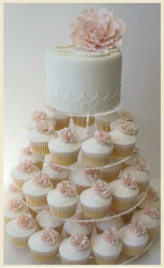 Elegant Cupcake Wedding Cake