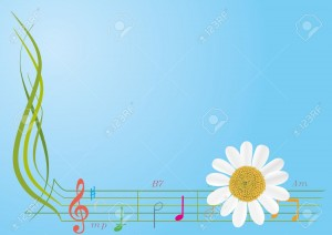 Flower Music Notes Backgrounds 5 300×212