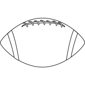 Football Clipart Black And White 1