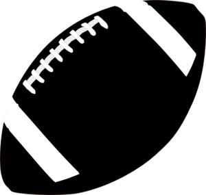 Football Clipart Black And White 4 300×285