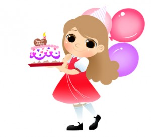 Girl Birthday Cake Clip Art 3 300×273