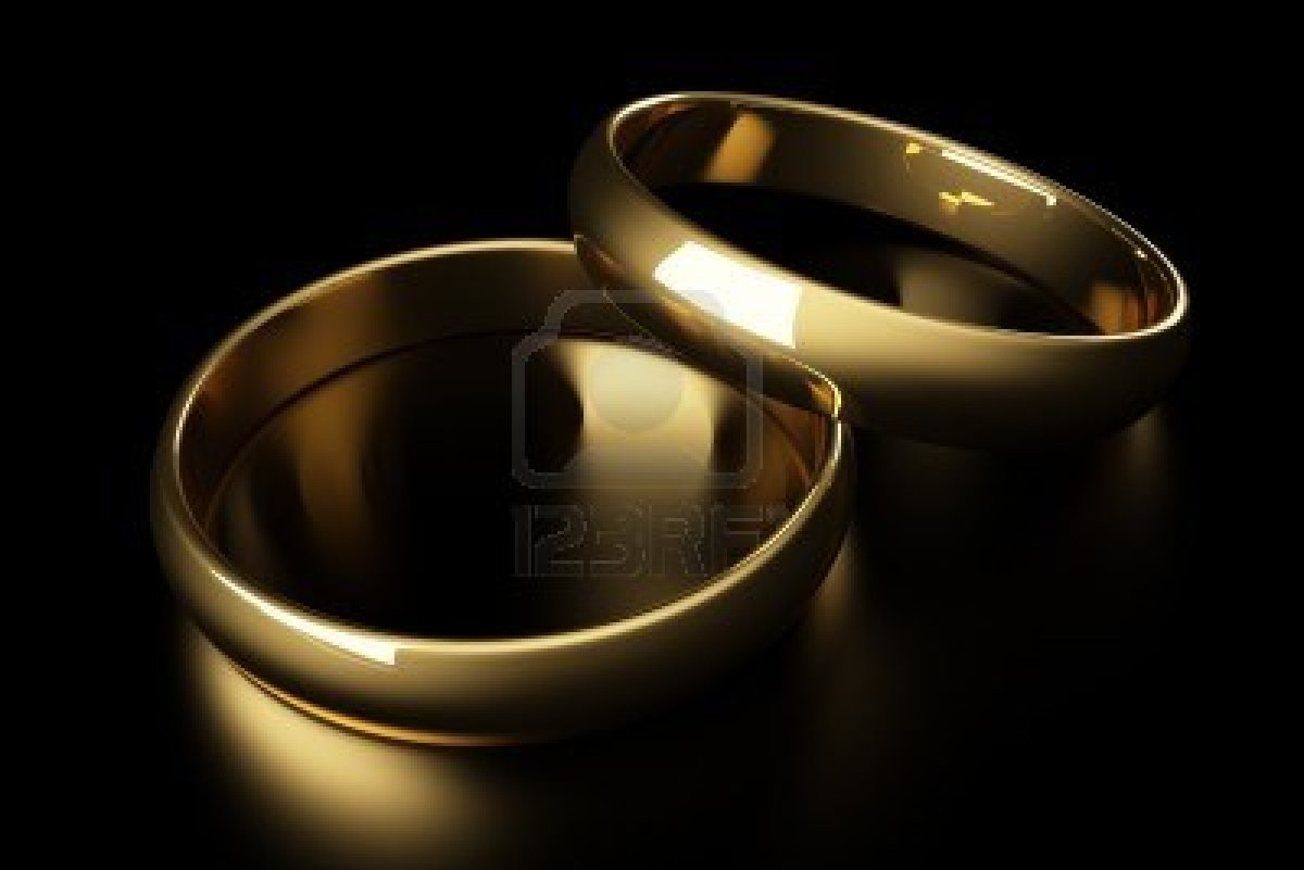 Gold Wedding Ring Background 2