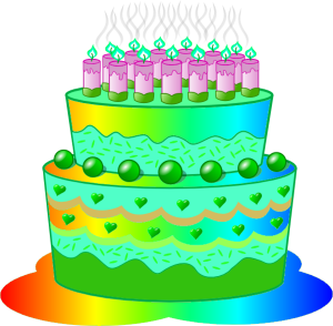 Green Birthday Cake Clip Art 5 300×294
