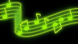 Green Music Notes Background 4 262×148